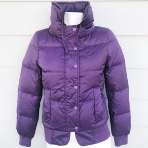 Juicy Couture Purple Down Puffer Coat